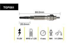 Tridon Glow Plug TGP081
