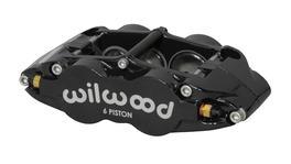 Wilwood SuperLite Narrow 6 Dust Seal Caliper 6 Pot RH Black 120-14436-BK