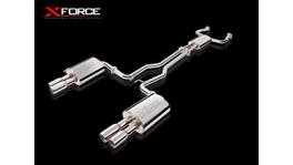 """Xforce Cat-Back System Twin 2.5"""" Non-Polished Stainless Steel"""