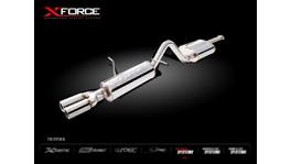 """Xforce Cat-Back System 2.5"""" No Tips Raw 409 Stainless fits Ford Falcon BA-BF XR6 Sedan 02-08"""