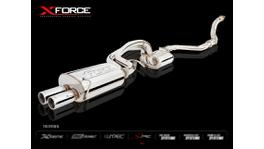 "Xforce Full Exhaust System Turbo Back 4"" Dump Cat Split To Dual 2.5"" Centre & Rear Raw 409 S/S fits Ford FG XR6T Sedan 08-14"
